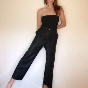 CHANEL '99 High-Rise Wide Leg Wool Cashmere Pants